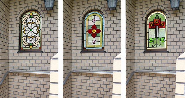 アーチ形窓にステンドグラスを取り付け【英国アンティーク ステンドグラス 京都 トシアンティークス】